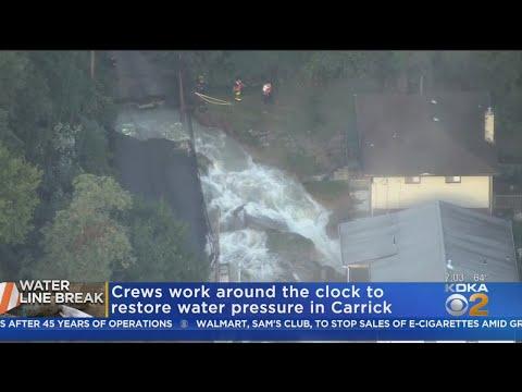Crews Continue To Work On Broken Water Main In Carrick
