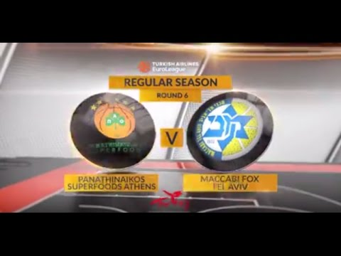 EuroLeague Highlights RS Round 6: Panathinaikos Superfoods Athens 83-75 Maccabi FOX Tel Aviv