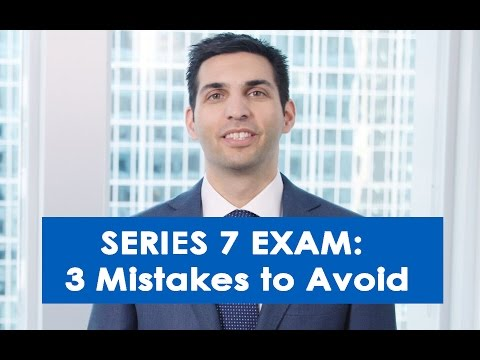 3 Mistakes to Avoid When Studying for the Series 7 Exam - YouTube