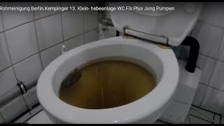 Rohrreinigung Berlin.Kempinger 13. Klein- hebeanlage WC Fix Plus  Jung Pumpen
