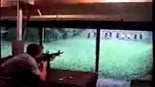 AR-15 rifle explosion