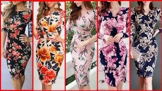Gorgeous Fabulous And Elegant Stylish Floral Print Bodycon /Sheath Dresses //Womens Fashion Trend