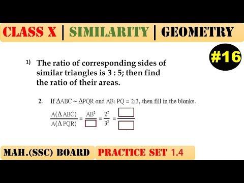 Similarity [Part 16] | Class 10 | Practice set 1.4 (MATHS 2) | Mah. (SSC) Board | Q1 and Q2