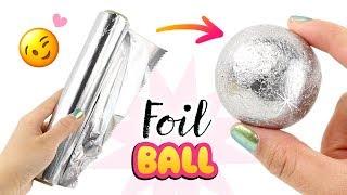 SAFE & EASY Japanese Foil Ball DIY!! NO Hammer, NO Sandpaper! How To Make Foil Ball Viral DIY - Video Youtube