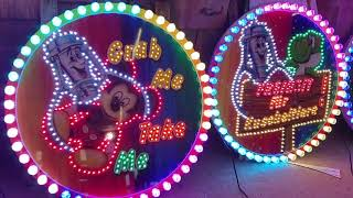 DIBOND Schild mit LED-Beleuchtung