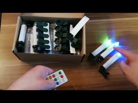 LED Kerzen | Weihnachtsbaum  | Batteriebetrieben | RGB | Fernbedienung | 12 Farben