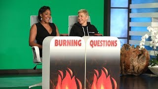 Tiffany Haddish Answers Ellen's 'Burning Questions' - Part 2