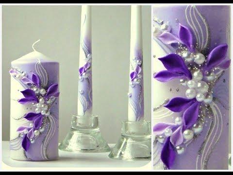 Hochzeitskerze Traukerze Anlasskerze Hochzeitsshop Saphira Style