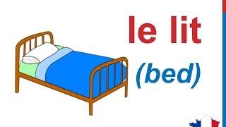 French Lesson 84 - Items Things In The Bedroom Furniture - Dans La Chambre - Cosas En La Habitación