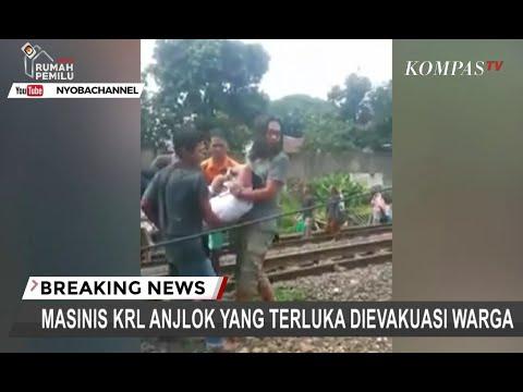 Masinis Kereta Anjlok di Bogor Dievakuasi Warga