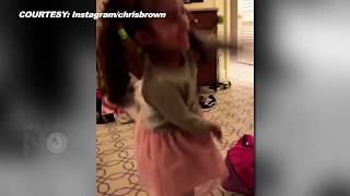 Chris Brown's Daughter Royalty Singing 50 Cents In Da Club | It's Your Birthday