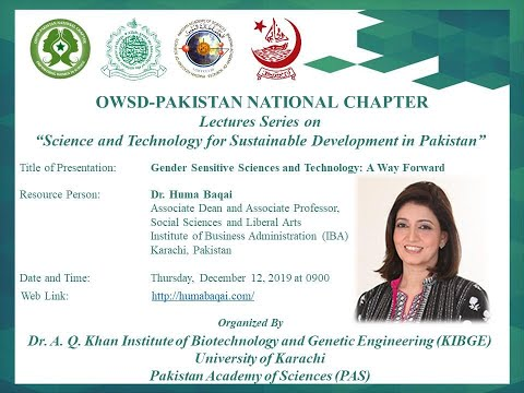 Glimpses of first lecture of OWSD Pakistan Lecture series| Dr. Huma Baqai | KIBGE