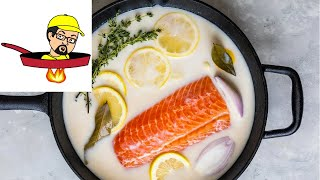Salmon Poached In Buttermilk & Herbs