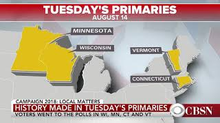 Primary Results Are In From WI, MN, CT, And VT