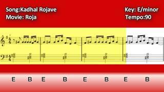 Kadhal Rojave - Piano