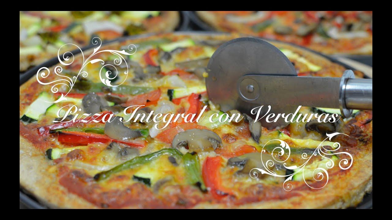 Pizza Casera Integral con Verduras thermomix | Pizza de Verduras | Pizza con Verduras
