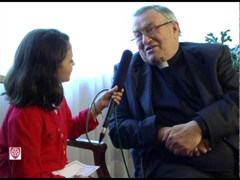 Kinderreporterin Nelly interviewt Kardinal Lehmann