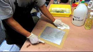How to Etch with White Vinegar (Kitchen Lithography Variation)