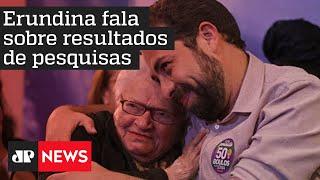 Candidata à vice-prefeitura Luiza Erundina vota em São Paulo