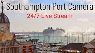 Port Cam – Southampton Port Camera Cruise, Ferries, Tugs and Container Ships (Live Stream 24/7)