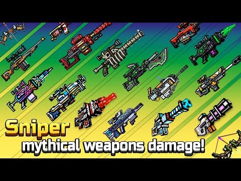 Pixel Gun 3D - Sniper Mythical Weapons Shots Damage + Reloading Animations