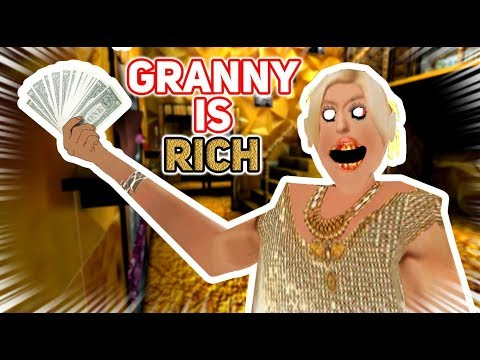 Granny Wins The Lottery AND BUYS A GOLDEN HOUSE!!! | Granny The Mobile Horror Game (Rich & Gold Mod)