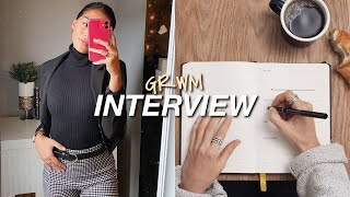 INTERVIEW GET READY WITH ME! |makeup, Hair, Outfit & My Tips For A Successful Interview!