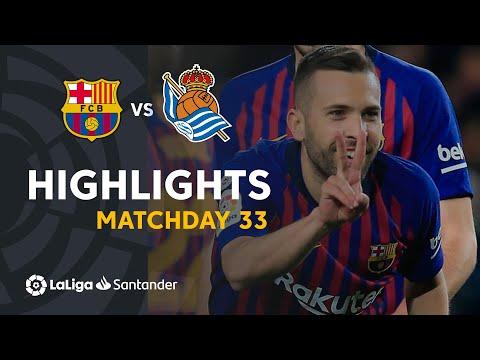 Barcelona Vs Real Sociedad 2-1 LA Liga 2019 Goals Highlights
