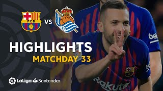 Highlights FC Barcelona vs Real Sociedad (2-1)