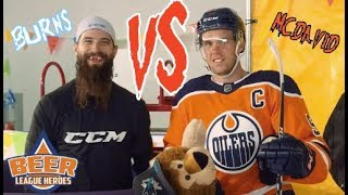 Connor McDavid VS. Brent Burns (Hilarious Video from CCM) - Beer League Heroes