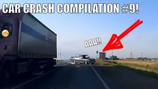 Car Crash Compilation #9! Car Crashes and Car Accident on Dashcam(DVR) on roads of Russia and USA!