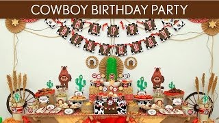 Cowboy Birthday Party Ideas // Cowboy - B11
