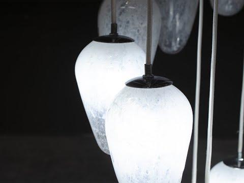 Lampadario in vetro veneziano Gocce di Pioggia