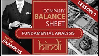 Lesson 1   Stock Fundamental Analysis In Hindi - Balance Sheet  