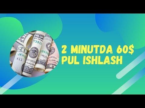 2 МИНУТДА 60$ ПУЛ ИШЛАШ