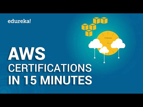 AWS Certifications in 15 Minutes | Which AWS Certification To Choose | AWS Training | Edureka