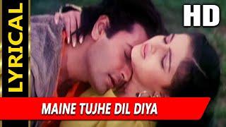 Maine Tujhe Dil Diya With Lyrics | Udit Narayan, Sarika