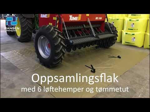 Oppsamlingsflak med løftehemper - film på YouTube