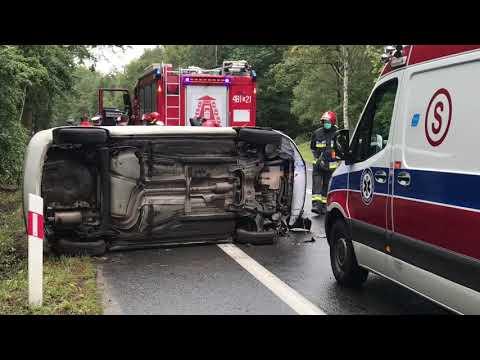 Wideo: Wypadek na DK3 Lubin - Legnica