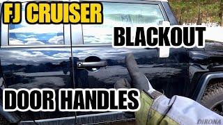 Installing BLACK Door Handles On An FJ CRUISER