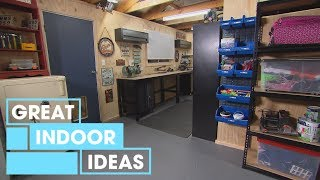Man Cave And Workshop Makeover   Indoor   Great Home Ideas