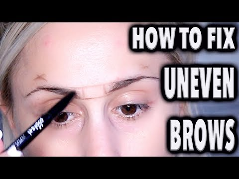 HOW TO : Fix Uneven Eyebrows with MAKEUP