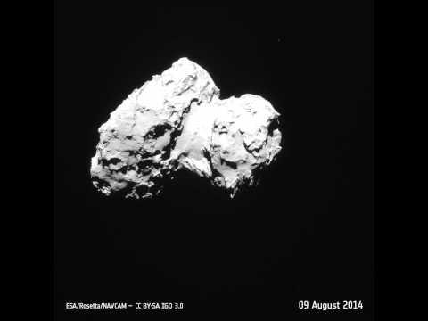 Rosetta Navcam's reconnaissance of comet Churyumov-Gerasimenko
