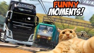 Euro Truck Simulator 2 Multiplayer   Funny Moments & Crash Compilation   #43