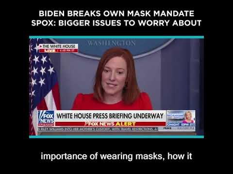 Biden Breaks Own Mask Mandate, Spox:
