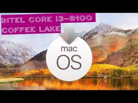 Установка macOS High Sierra 10.13.5 на ПК с Intel Core i3-8100 Coffee Lake.
