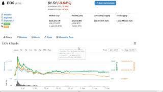 Криптовалюта EOS 425% взлет и падение. Что ожидать? Прогнозы и предостережения.