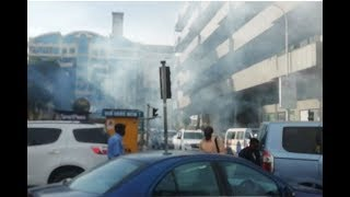 Police lob teargas to disperse protesting Prisons department