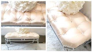 DIY Furniture Makeover | DIY Tufted Bench
