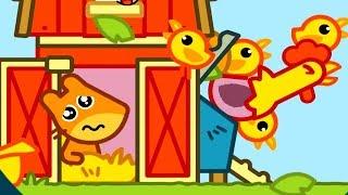 Енот Панго Белочка на Ферме мульт приключения Pango обучающие игры Best Kids Apps